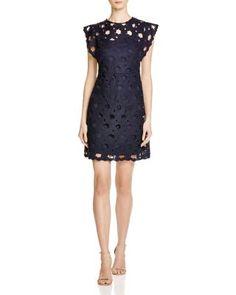 AQUA Lace Flutter Sleeve Dress | Bloomingdale's