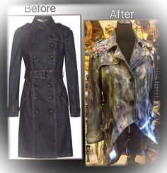 My Deconstructed & Reworked Denim Trench