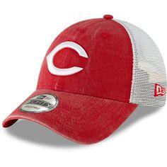 78f00b99206 Men s Cincinnati Reds New Era Red 1869 Cooperstown Collection Trucker  9FORTY Adjustable Snapback Hat