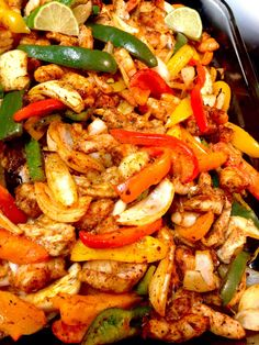 Chicken Steak and Shrimp Fajitas Recipe Shrimp Fajitas Recipe From Mexico's Coastal Cuisine Chicken Steak and Shrimp Fajitas Recipe. Fajitas are a big deal in Mexico, and the authentic ones a… Shrimp Fajita Recipe, Shrimp Fajitas, Steak And Shrimp, Chicken Steak, Chicken And Shrimp Recipes, Shrimp Dishes, Chicken Fajitas, Baked Chicken, Seafood Recipes