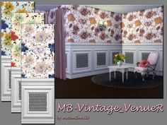 The Sims Resource: Vintage VenueR walls • Sims 4 Downloads