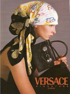 versace - how to tie a head scarf