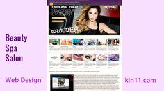 Hair Spa and Beauty Salon Web Design