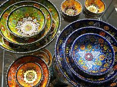"Turkish bowls and dishes - just bought these cute bowls at a store in Redondo Beach called ""impressions"""