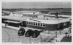 1948/50. Vancouver, Canada. Vancouver International Airport Vancouver Photos, Vancouver Bc Canada, Vancouver Island, Old Pictures, Old Photos, Vintage Photos, Suspension Bridge Vancouver, West Coast Canada
