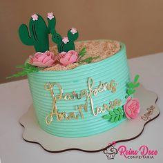 Mom Birthday, Birthday Cake, Cactus Cake, Twins 1st Birthdays, Drip Cakes, Buttercream Cake, Celebration Cakes, Cake Smash, Baking