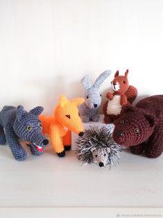 """Игрушки животные, ручной работы. Ярмарка Мастеров - ручная работа. Купить Вязаные игрушки """" Лесные жители"""". Handmade. Ежик"""