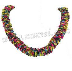 Ladder Yarns Necklaces Free Pattern | Free Pattern: Ladder Ribbon Lei Necklace and Choker