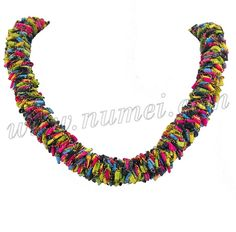 Ladder Yarns Necklaces Free Pattern | Free Pattern: Ladder Ribbon Lei Necklace and Choker
