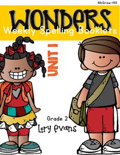 Using McGraw Hill WONDERS? This product might be a helpful spelling tool for your kiddos to practice the weekly spelling/phonics rule. The booklet is 6 half - pages for each week