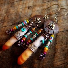 Sea Urchin Hill Tribe Silver African Beads and by yuccabloom, $51.00