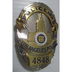 Bill Gannon Dragnet 4 Part Badge W/Hard Pro-Enamel Lapd Badge, Local Police, Los Angeles County, Movie Props, Tactical Knives, Law Enforcement, Cops, Badges, Detective
