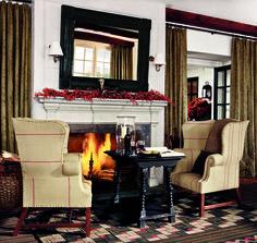 Ralph Lauren Home fireside table for two