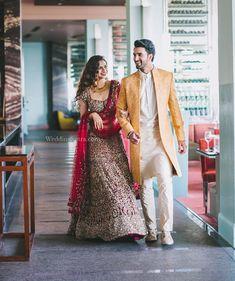 Engagement Dress For Groom, Couple Wedding Dress, Wedding Outfits For Groom, Groom Wedding Dress, Wedding Attire, Indian Engagement Outfit, Wedding Suits, Trendy Wedding, Wedding Ideas