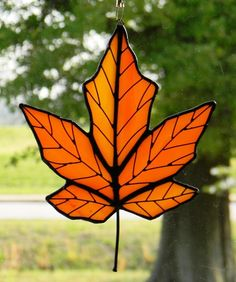 Stained Glass! #stained #glass #leaf