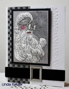 WT403 Bleached Santa by Holstein - Cards and Paper Crafts at Splitcoaststampers