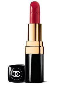 Swipe on a Classic Red Lipstick Chanel Rouge Coco Hydrating Creme Lip Colour in Gabrielle