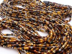 Vintage Torsade Glass Bead Necklace Amber by TheJewelryLadysStore,