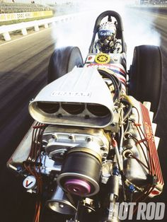 "Don ""the Snake"" Prudhomme. Those mid engine dragsters were very dangerous!"