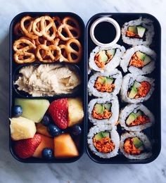 Obsessed with bento boxes! Lunch time with vegan sushi and hummus…of course! Obsessed with bento boxes! Lunch time with vegan sushi and hummus…of course! Healthy Snacks, Healthy Eating, Healthy Life, Vegan Life, Clean Eating, Healthy Skin, Food Porn, Food Goals, Aesthetic Food