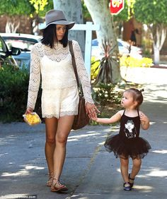 Her little ballerina: Jenna Dewan-Tatum took her oh-so-cute daughter Everly to run errands...