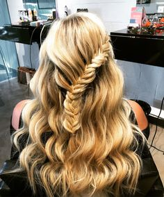 Fishtail lace braid and waves by me!