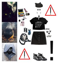 """""""Keep It To Yourself"""" by blackmagicmomma ❤ liked on Polyvore featuring H&M, The Rogue + The Wolf, Feathered Soul, Casetify, Karl Lagerfeld, SP Black and mark."""