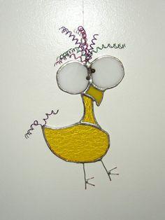 Monday Morning Bird by GlassRus on Etsy, $12.50