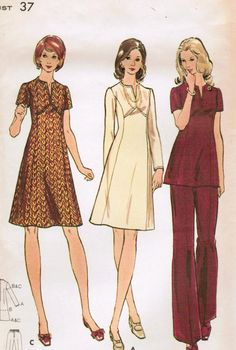 1970's Dress Pattern.  Remember when?