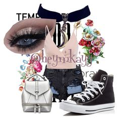 """Temp Tatts."" by missmkayy on Polyvore featuring beauty, Alexander Wang, Converse, temporarytattoo and temporarytattoos"