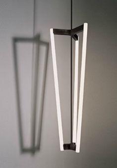 Tube Chandelier - satin brass   lighting . Beleuchtung . luminaires   Design: Michael Anastassiades  