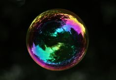 The beauty of a soap bubble