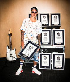 Justin Bieber Lands Eight New Guinness World Records