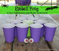 EYEBALL PONG game for Halloween parties (all ages)