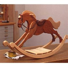 Playroom Palomino Rocking Horse : Large-format Paper Woodworking Plan from WOOD Magazine diy for beginners plans tips tools Woodworking Toys, Popular Woodworking, Woodworking Furniture, Furniture Plans, Kids Furniture, Woodworking Classes, Woodworking Machinery, Woodworking Ideas, Woodworking Workshop