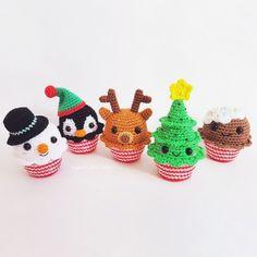Christmas Cupcakes - Amigurumipatterns.net