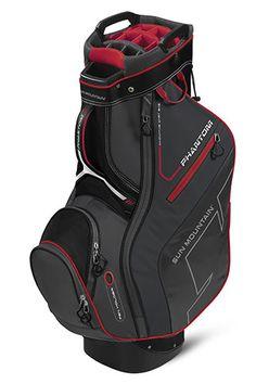Black/Gunmetal/Red Sun Mountain Men's Phantom Golf Cart Bag at #lorisgolfshoppe