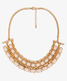 Lacquered Geo Bib Necklace   FOREVER21 - 1039102341