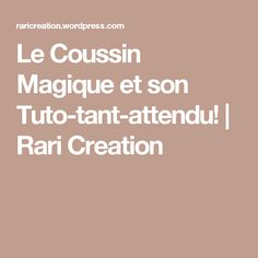 Le Coussin Magique et son Tuto-tant-attendu! | Rari Creation Creations, Diy, Inspiration, Couture Facile, Quilt Block Patterns, Throw Pillows, Projects, Biblical Inspiration