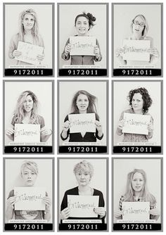 Morning after Bachlorette Party-- this is hilarious. and would look just like this probably since i'm planning the bachlorette party ; Bachlorette Party, Classy Bachelorette Party, Bachelorette Weekend, Bachelorette Party Pictures, Bachelorette Games, Future Mrs, Before Wedding, Mug Shots, Here Comes The Bride