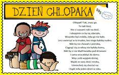 Dzień Chłopaka Diy And Crafts, Crafts For Kids, Boys Day, Class Games, Techno, Good Things, Humor, Education, Comics