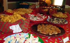 christmas party food table | Food Table