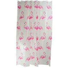 Showercurtain with flamingoes.  I have it and I love it.
