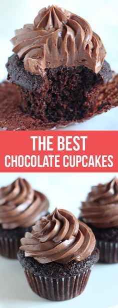 I've finally discovered the BEST Chocolate Cupcake recipe! #chocolate #chocolatelovers #cupcakes #recipe #dessert #dessertrecipes #cupcakerecipes | Posted By: DebbieNet.com