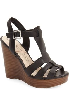 Free shipping and returns on Sole Society 'Chaya' Platform Wedge Sandal (Women) at Nordstrom.com. A trend-right sandal with a strappy leather upper is lifted by a stacked platform and curvy wedge heel for an essential update to your warm-weather wardrobe.
