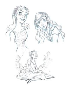 Enchanted Concept Art. The hair almost reminds me of Rapunzel.