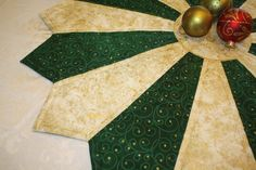 Christmas Table Topper Holiday Table Topper by PrimitivePatchworks