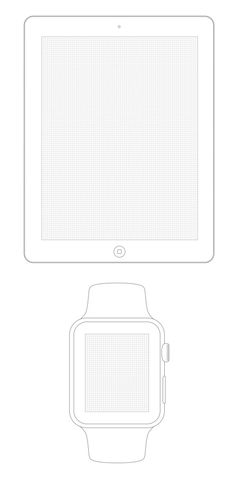 Apple Watch, iPhone, iPad & Android sketch paper