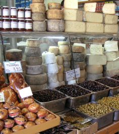 Greek Delicatessen. Makes me wanna jump into the picture. Yummy♥