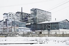 Sodium fabriek van Ocna Mureș noord-west Roemenië.